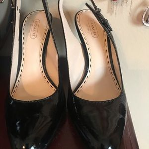 Coach sling pumps, black, 7 1/2